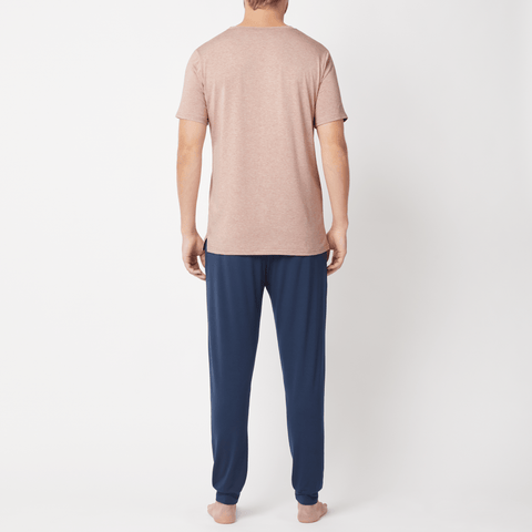 SET - Classic Short Sleeve T-shirt/ Cuffed Trouser Pyjama