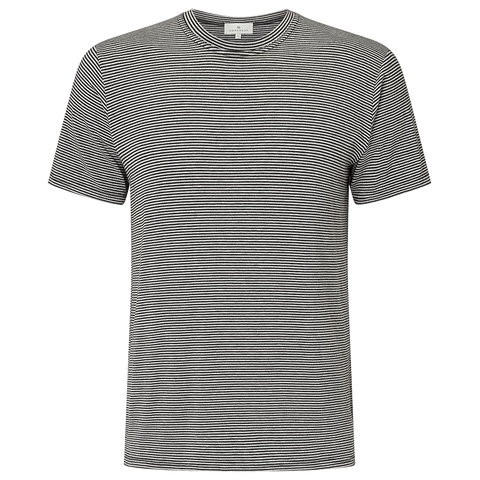 Striped Short Sleeve T-Shirt - Mid Grey/Charcoal