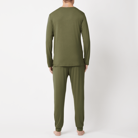 SET - Classic Long Sleeve T-shirt/ Cuffed Trouser Pyjama