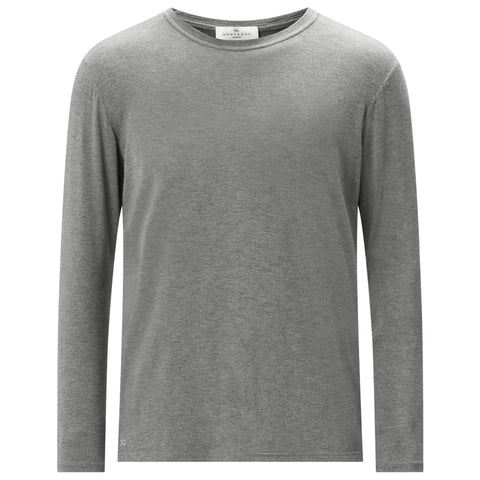 Long Sleeve Pyjama T-Shirt - Mid Grey