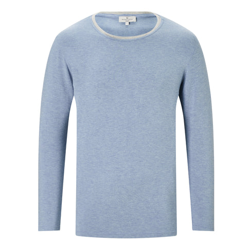 Contrast T-shirt - Pale Blue Marl/Light Grey