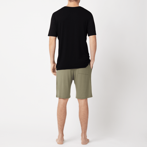 SET - Classic V-Neck Short Sleeve T-shirt/ Shorts Pyjama