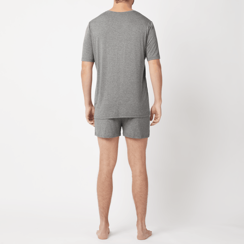 SET - V-neck Short Sleeve T-shirt/ Classic Boxer Shorts