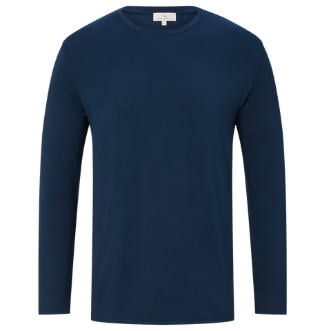 Long Sleeve Elbow Patch T-shirt - Navy
