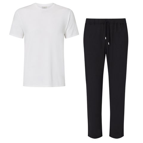 SET - Classic Short Sleeve T-shirt / Trouser Pyjama