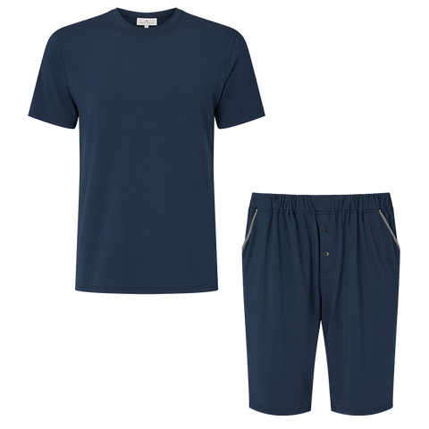 SET - Classic Short Sleeve T-Shirt / Contrast Short Pyjama
