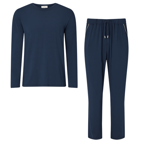 SET - Classic Long Sleeved T-shirt/ Contrast Trouser Pyjama