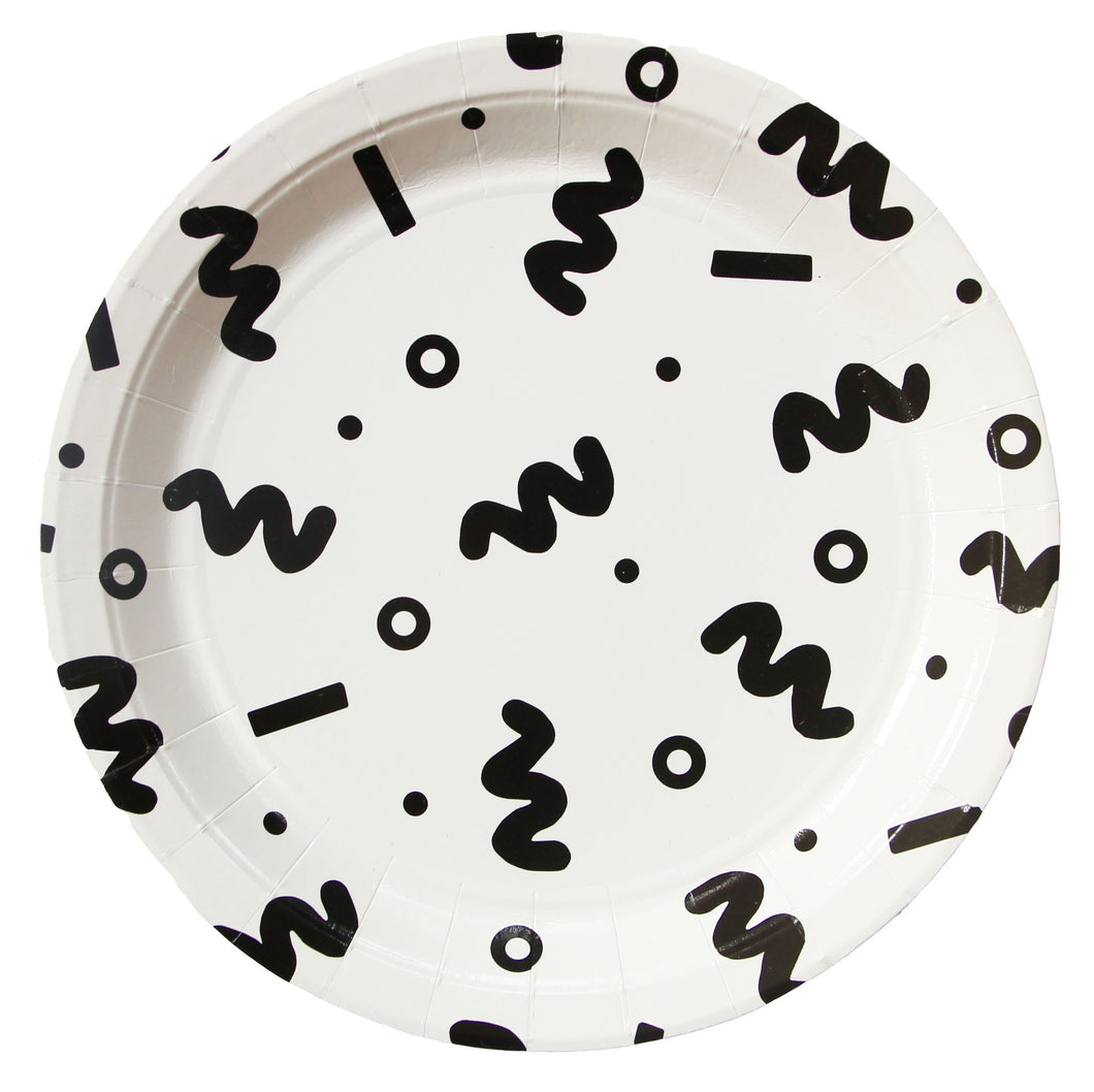 Squiggle plates, Large