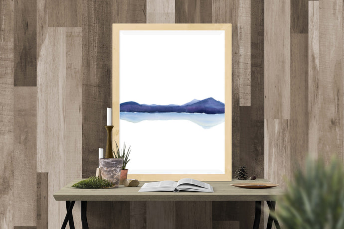 Fine Art Instant Download Watercolor Vertical Landscape
