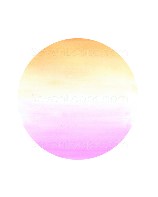 Fine Art Instant Download Ombre Circle Sunset