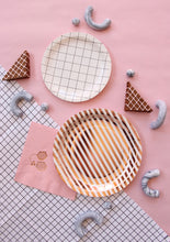 Copper striped plates, Large