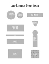 Leprechaun Peg doll outfit template