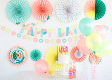 Neon Happy Birthday Cake Topper