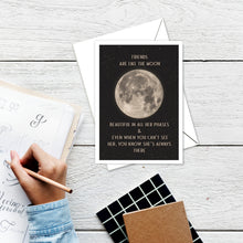 Friend Moon greeting card instant digital download