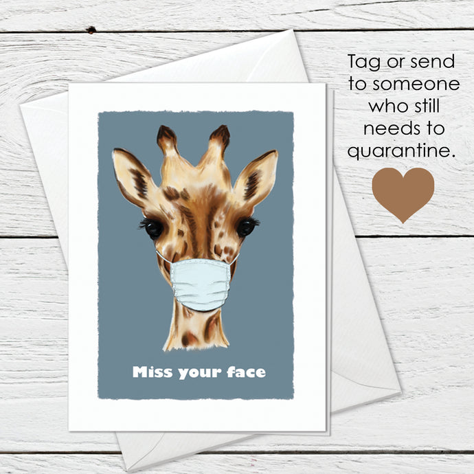 Miss your face greeting card instant digital download