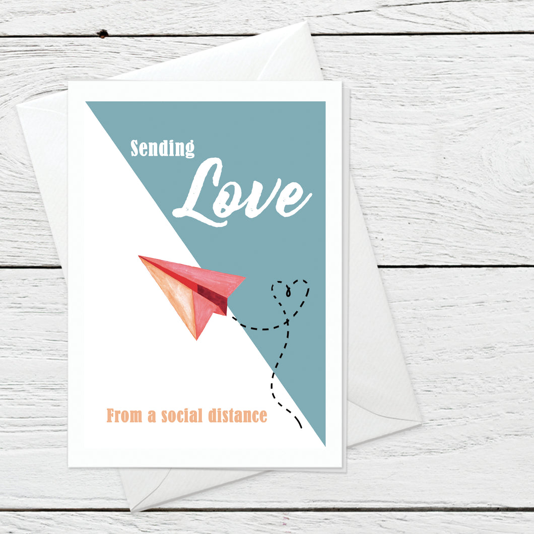 Sending Love greeting card instant digital download