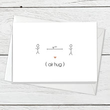 Air hug greeting card instant digital download