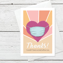 Thanks greeting card instant digital download
