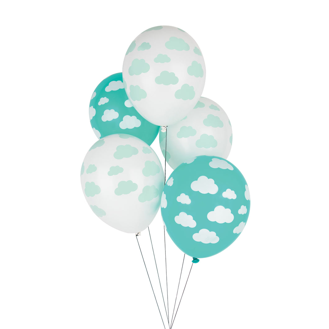 Clouds, tattooed balloons. 5pk