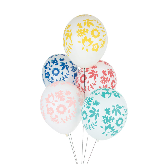 Flowers, tattooed balloons. 5pk