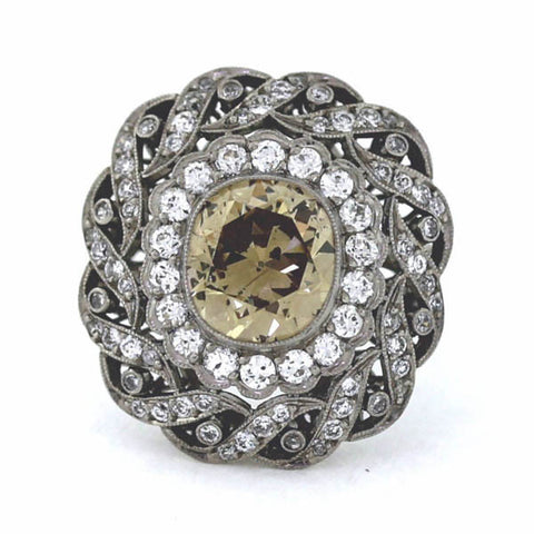Brown Diamond Vintage Ring - Estate Jewelry