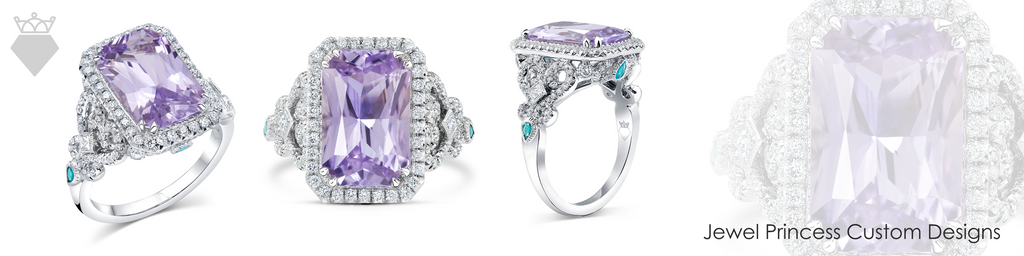 The Jewel Princess Custom Design Engagement Rings