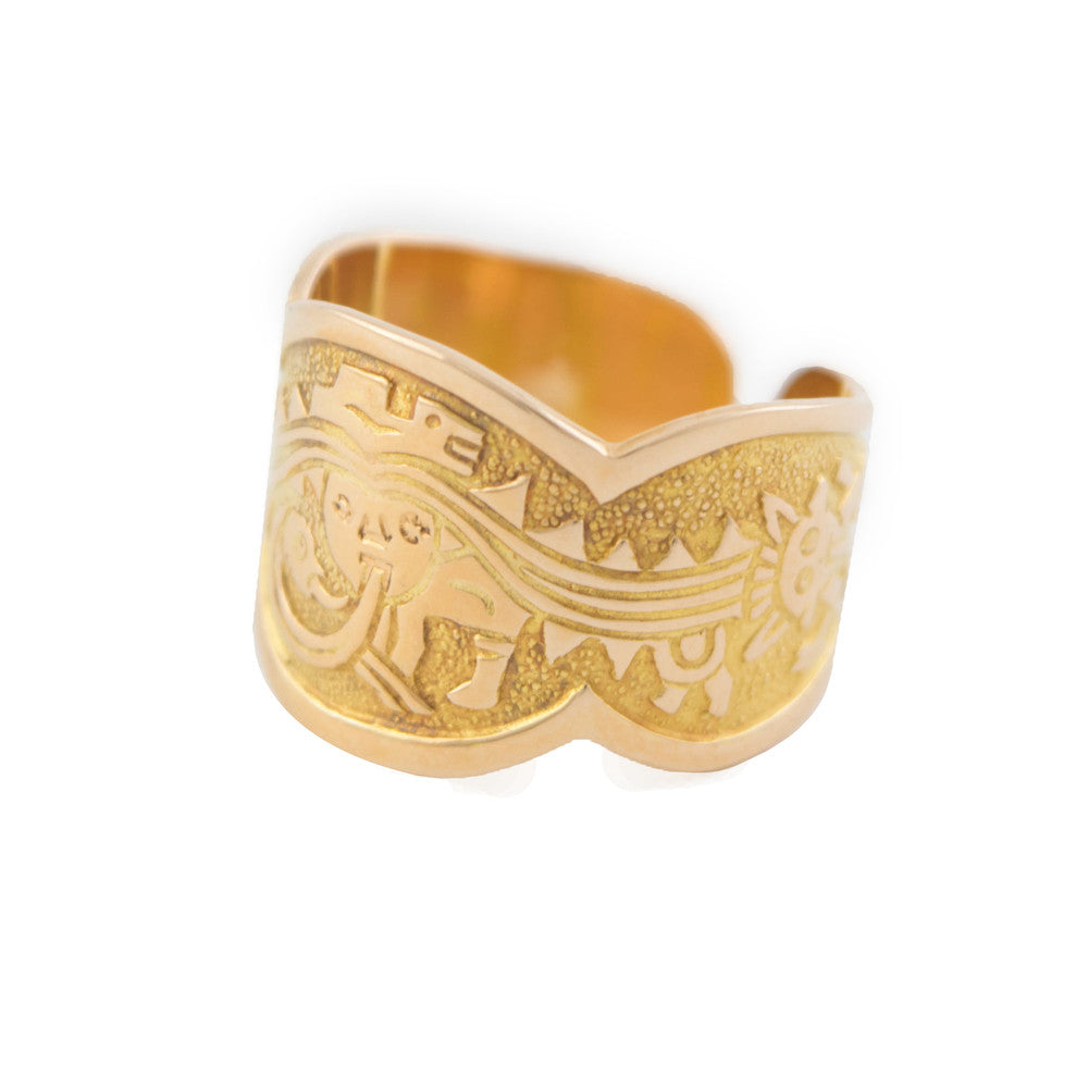 Let Your Weird Out 18K Yellow Gold Ring - Rings