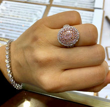 Charlotte Oval Pink Diamond Ring - Rings