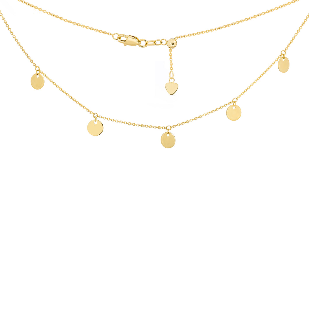 Gold Disc Choker - Necklace