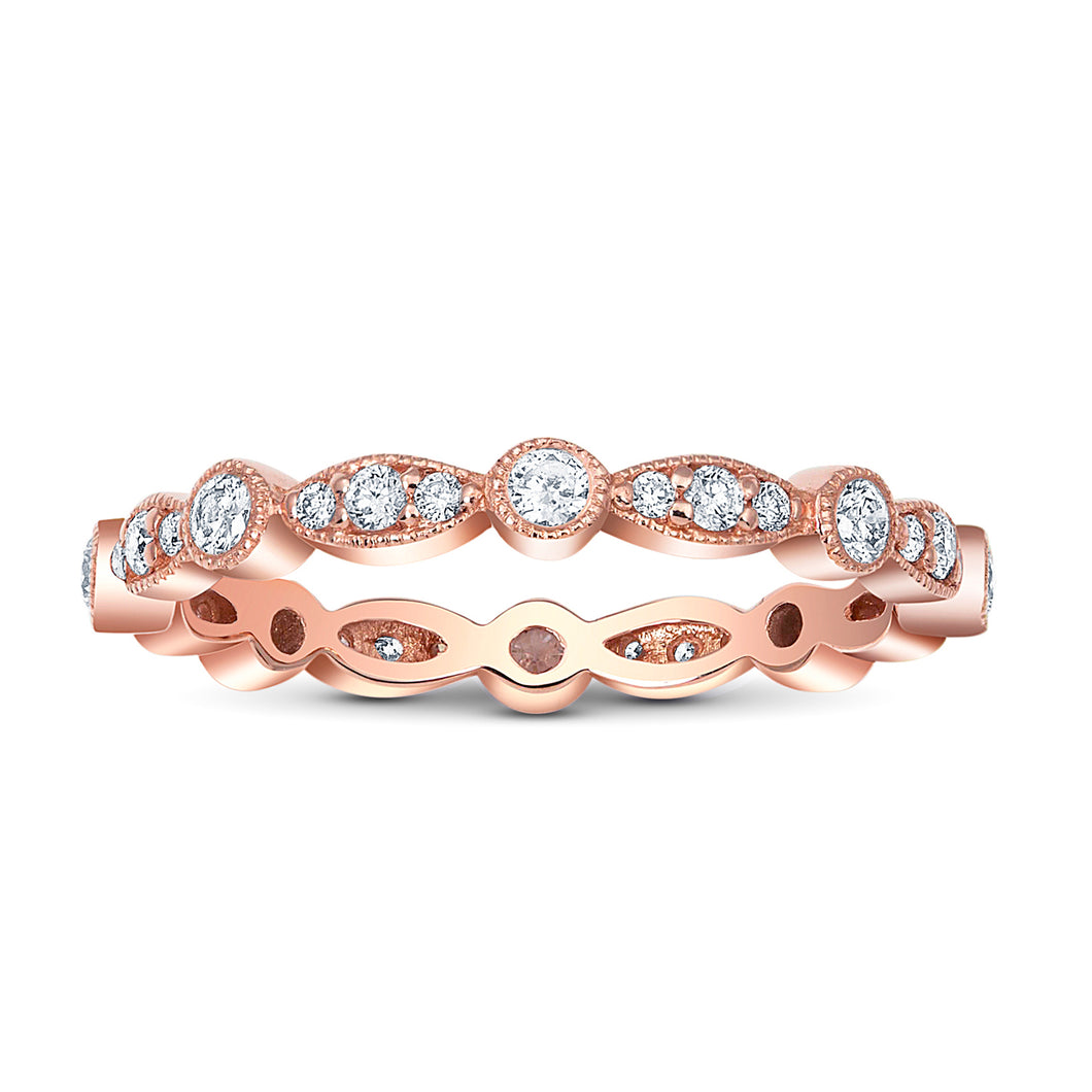 Alix Round & Marquis Milgrain Eternity Band - Rings