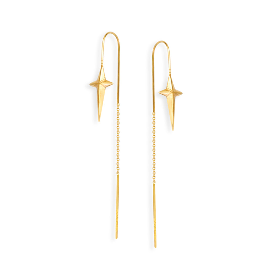 North Star Threader Drop Earrings - Earrings