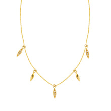 Gold Marquise Diamond Necklace - Necklace