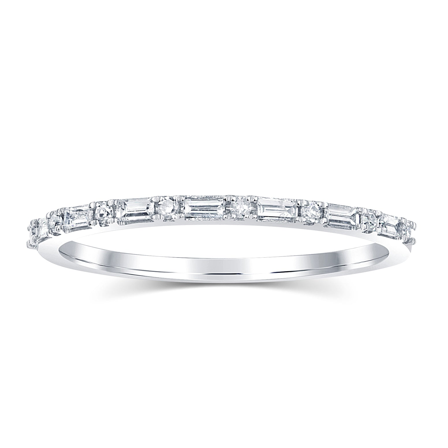band rings scattered eternity diamond baguette anniversary bands
