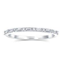 Sophia Baguette and Round Diamond Band - Rings