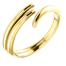 Open Gold Curved Ring - Rings