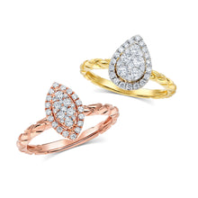 Aria Rose Gold Marquise Ring - Engagement Rings