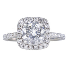 Classic Cushion Halo Diamond Ring Setting - Rings