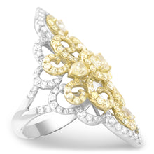 Aurora Yellow Diamond Kite Ring - Rings