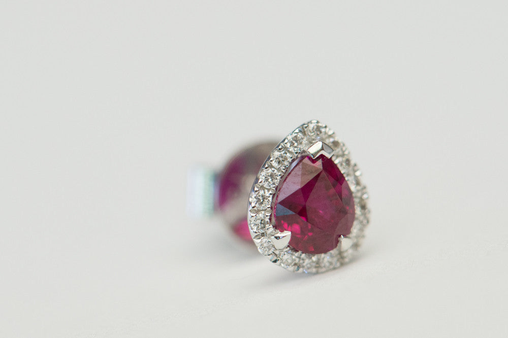 Antoinette Ruby Diamond Studs - Earrings