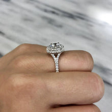 Double Halo Engagement Ring - Engagement Rings