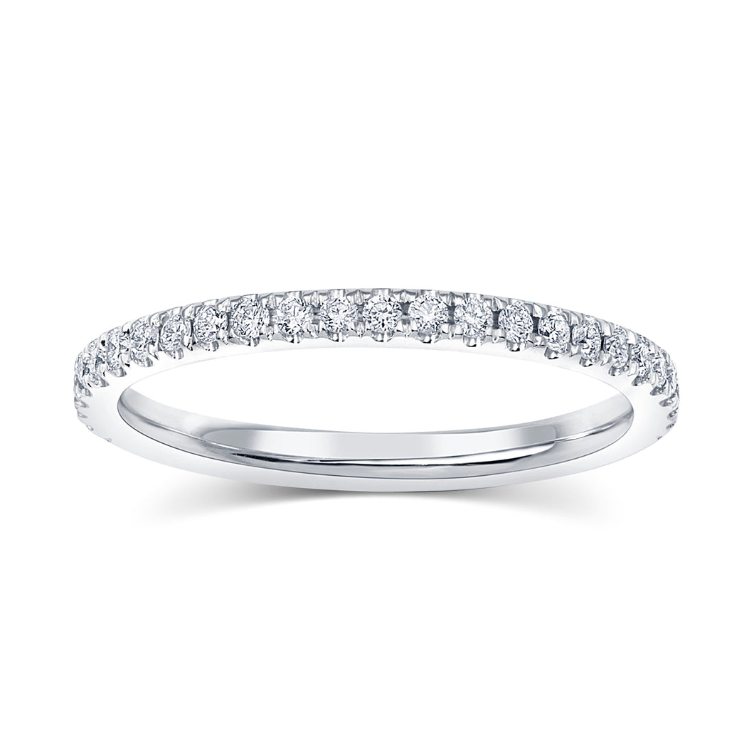 Diamond Wedding Band - Super Thin 1.2 mm - Rings