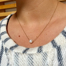 Pearl Solitaire Necklace - Necklace
