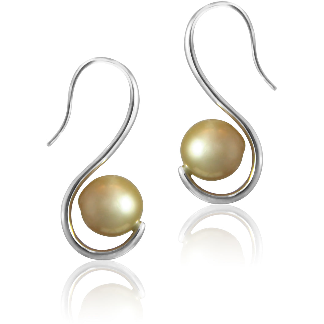 Sybil Hook Pearl Earrings - Earrings