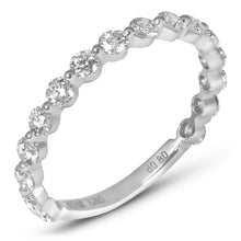Single Shared Prong Diamond Band 2.3mm 3/4 Diamonds - Rings