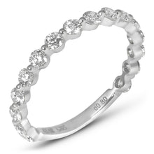 Single Shared Prong Diamond Band 2 mm Halfway Diamonds - Rings