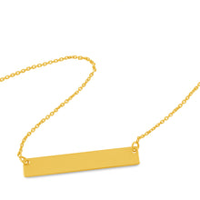 Small Bar Necklace 14k Yellow Gold - Necklace