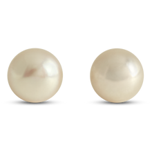8mm Pinkish Pearl Earrings with 14k Yellow Gold Push Backings - Earrings
