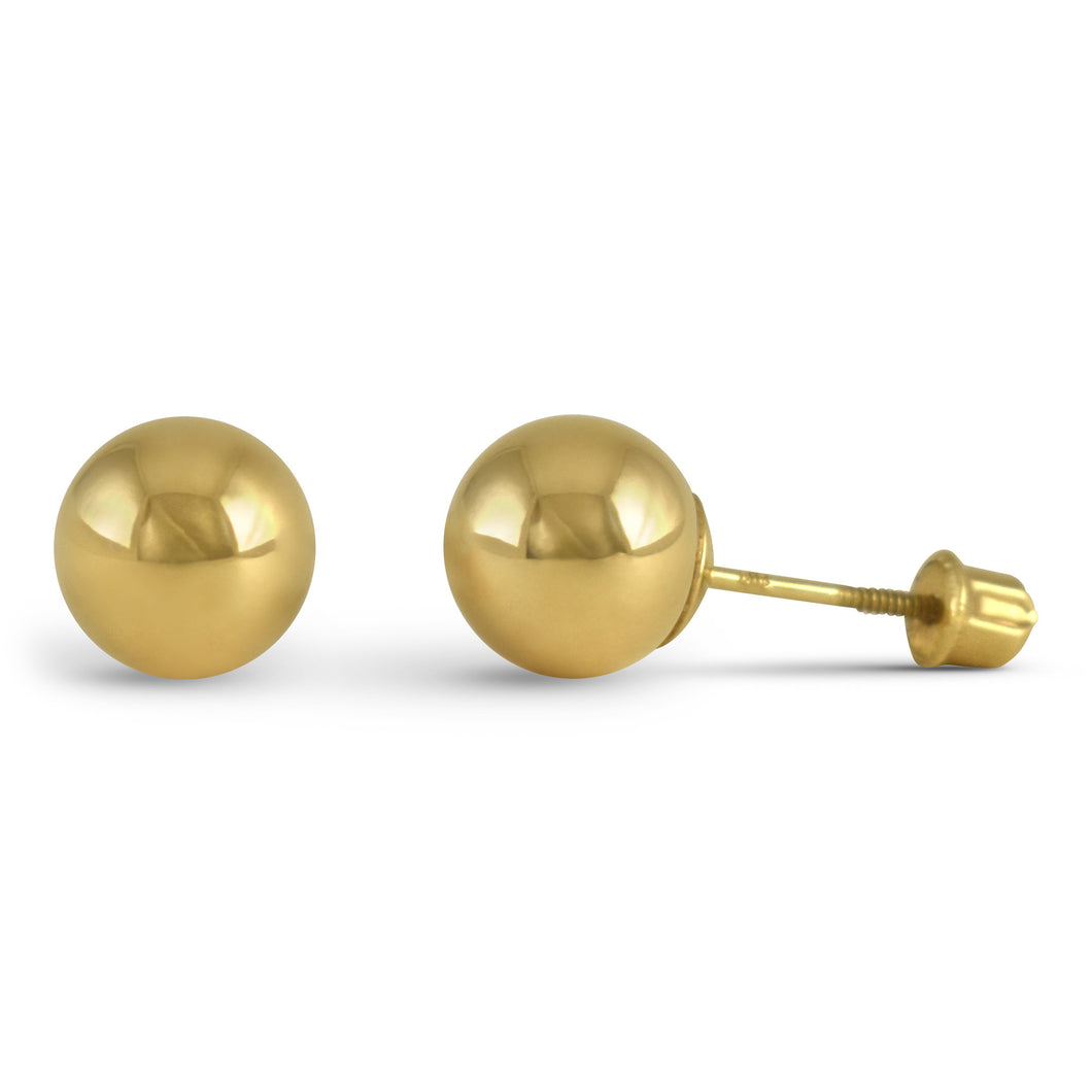 Gold Ball Earrings - Earrings