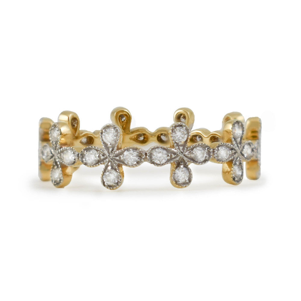 Floral Details Eternity Ring - Rings