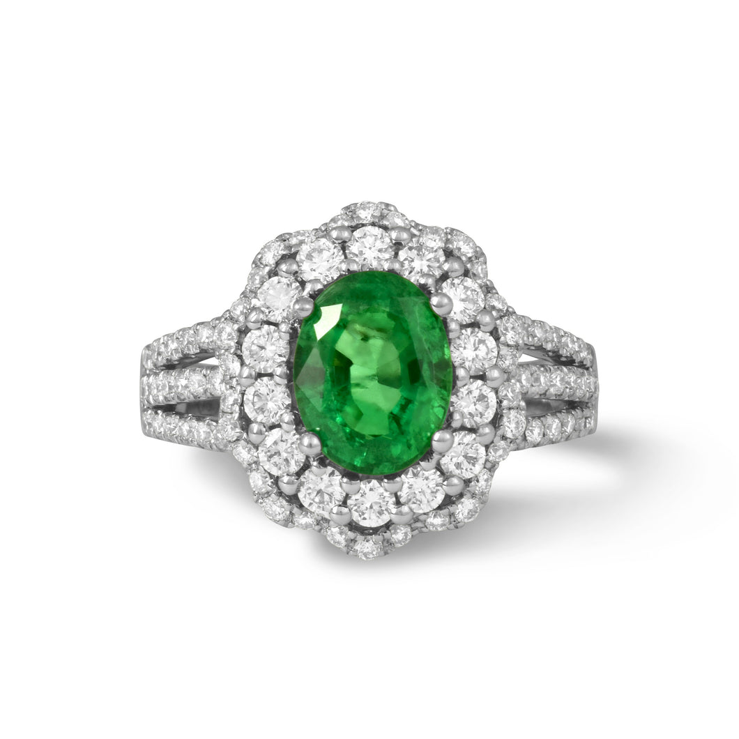 Oval Emerald Dreams Ring - Rings